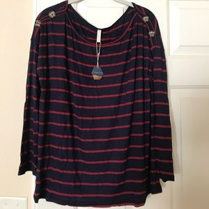 NWT Maternity PinkBlush Striped Top